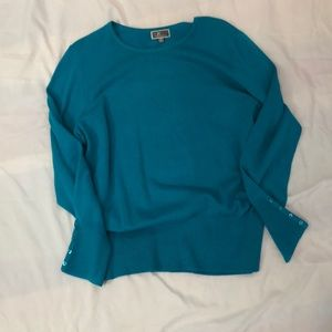 Turquoise Round Neck Sweater